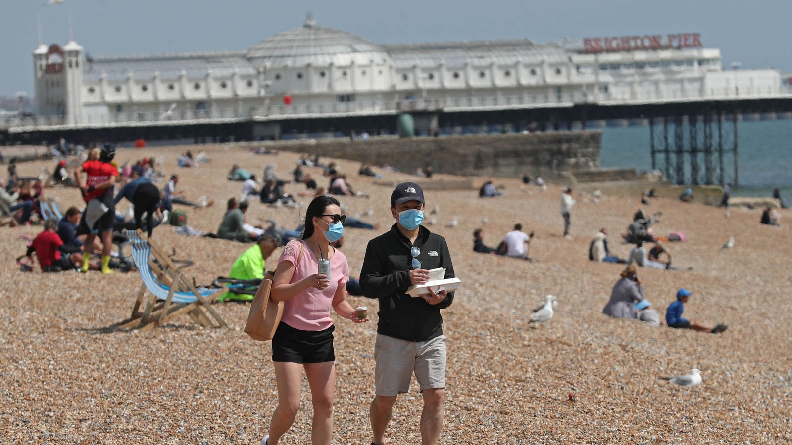 skynews people on brighton beach 4992918