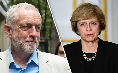 jeremy corbyn theresa may gkez
